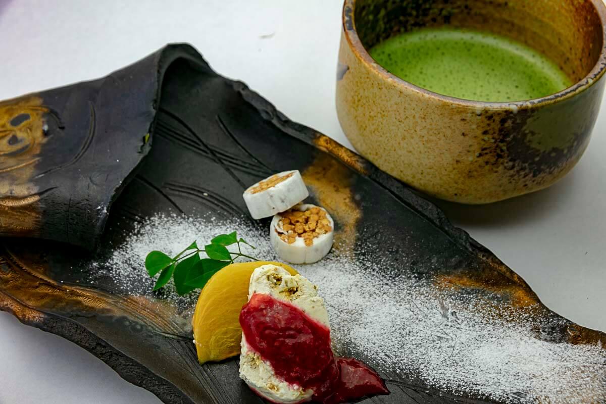 柿のロースト/向日葵と南京種の氷菓