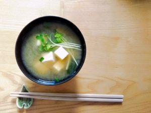 vegetarian dish, miso soup